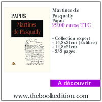 Le livre Martines de Pasqually