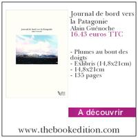 Le livre Journal de bord vers la Patagonie