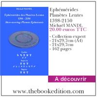 Le livre Ephémérides Planètes Lentes 1398-2150
