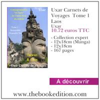 Le livre Uxar Carnets de Voyages  Tome 1 Laos