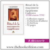 Le livre Rituel de la maçonnerie égyptienne