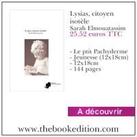 Le livre Lysias, citoyen isotèle