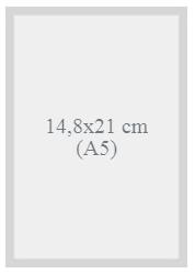 Gabarit technique d'impression de livre au format 14,8x21
